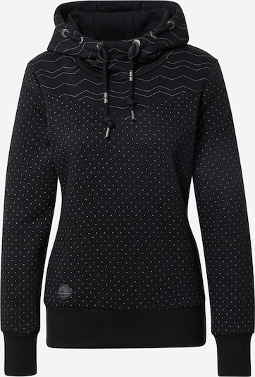 Ragwear Sweat-shirt 'NUGGIE' en noir / blanc, Vue avec produit