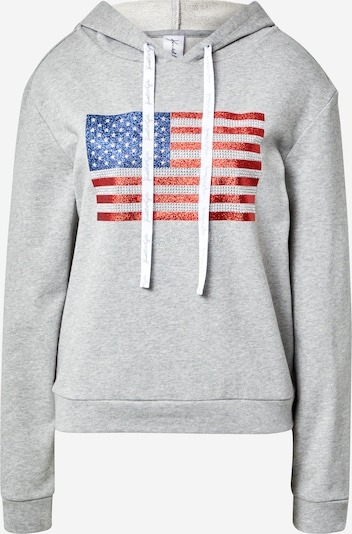 KENDALL + KYLIE Sweat-shirt en bleu / gris / rouge, Vue avec produit