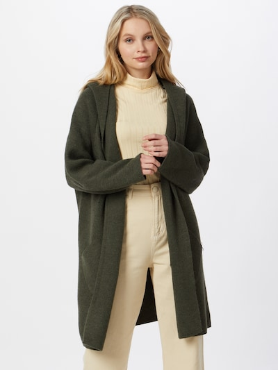 Zwillingsherz Knit cardigan 'Annabell' in khaki: Frontal view