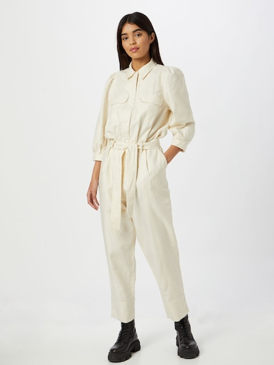 SECOND FEMALE Jumpsuit 'Selene' in de kleur Crème, Modelweergave