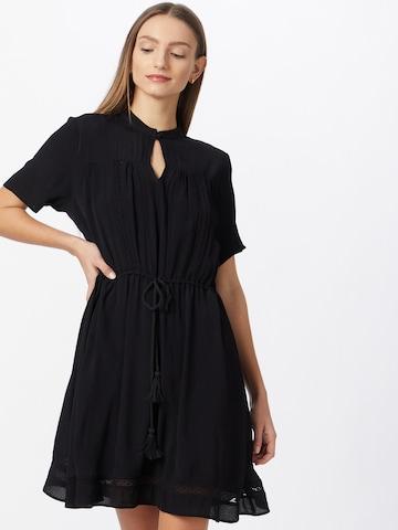 ICHI Košeľové šaty - Čierna