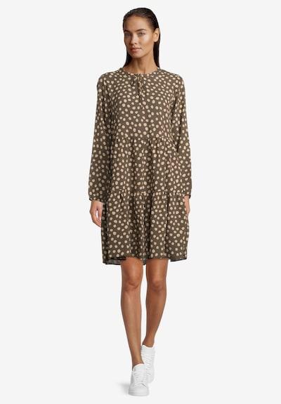 Betty & Co Volantkleid mit Print in khaki, Modelansicht