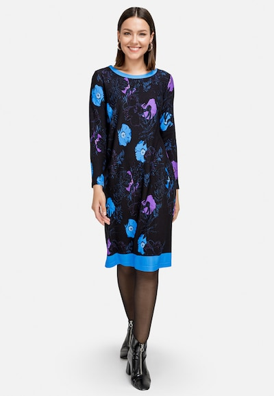 HELMIDGE A-Linien-Kleid in dunkelblau, Modelansicht