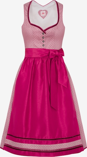 SPIETH & WENSKY Dirndel in pink / rosa: Frontalansicht
