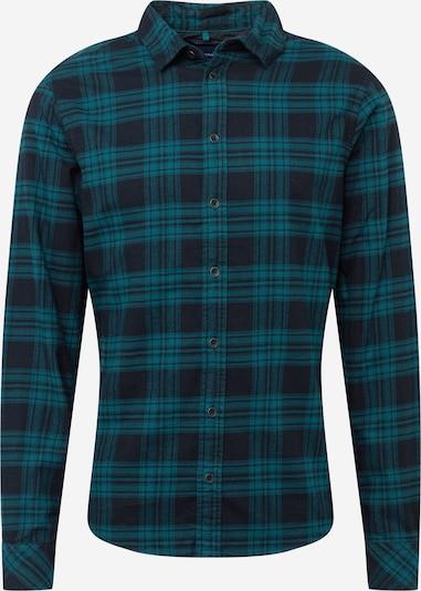 BLEND Hemd in navy / smaragd, Produktansicht