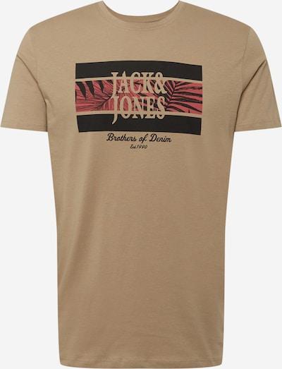JACK & JONES Shirt 'Booster' in de kleur Lichtbeige / Zalm roze / Zwart, Productweergave