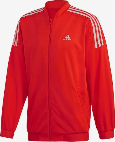 ADIDAS PERFORMANCE Sportjacke in rot / weiß, Produktansicht