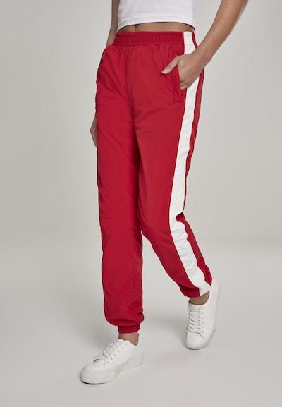 Urban Classics Hose in feuerrot / weiß, Modelansicht
