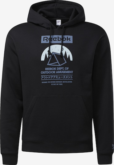 Reebok Classics Sweatshirt in violettblau / schwarz, Produktansicht