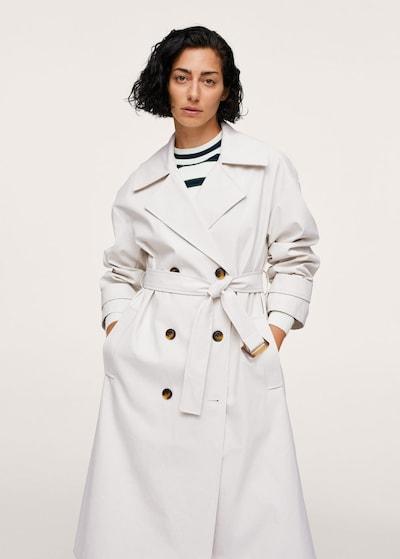 MANGO Mantel 'Marta' in weiß, Modelansicht