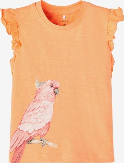 NAME IT Tričko 'Jennifer' - svetlosivá / oranžová / ružová / biela, Produkt
