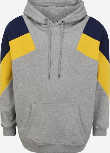 Urban Classics Big & Tall Sweater majica u noćno plava / žuta / siva, Pregled proizvoda