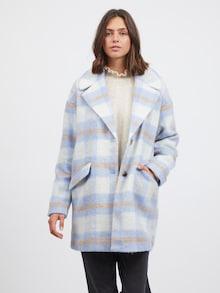VILA kabát 'Alissi' v béžovej / modrej / svetlohnedej farbe
