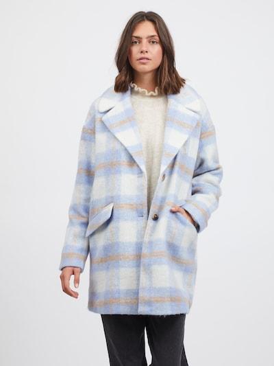 VILA Mantel 'Alissi' in beige / blau / hellbraun, Modelansicht