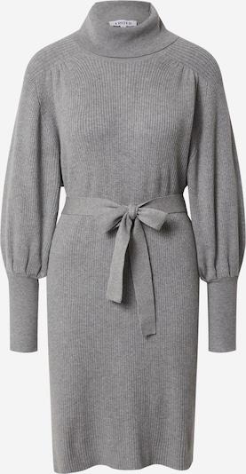 EDITED Gebreide jurk 'Malene' in de kleur Grijs gemêleerd, Productweergave
