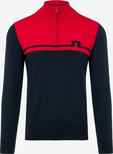 J.Lindeberg Sporttrui 'Theo' in de kleur Nachtblauw / Rood, Productweergave
