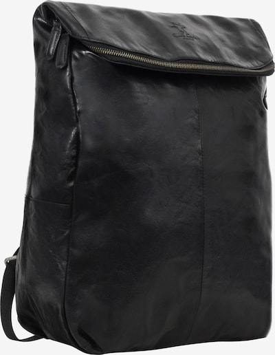 Gusti Leder Daypack Lederrucksack 'Neal ' in schwarz, Produktansicht