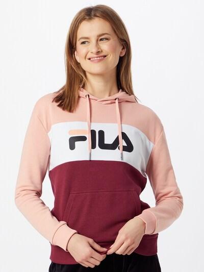 rózsaszín / borvörös / fehér FILA Tréning póló 'Lori': Elölnézet