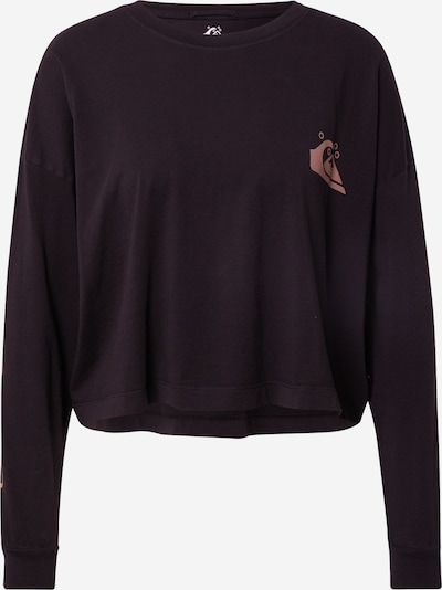 QUIKSILVER Sportisks džemperis, krāsa - gaiši brūns / melns, Preces skats