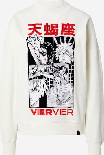 VIERVIER Sweat-shirt 'Dina' en blanc cassé, Vue avec produit