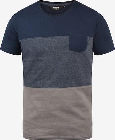 !Solid T-shirt 'Mingo' in navy / grau, Produktansicht