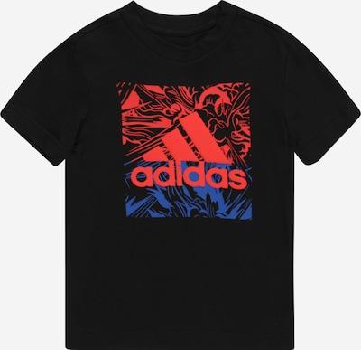 Sportiniai marškinėliai iš ADIDAS PERFORMANCE, spalva – mėlyna / neoninė raudona / juoda, Prekių apžvalga