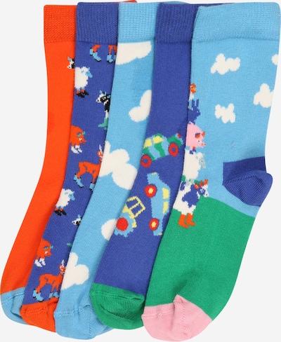 Happy Socks Socken 'Farm' in blau / orange, Produktansicht