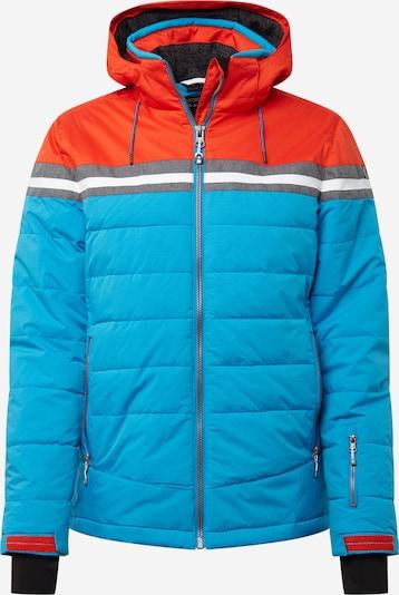 KILLTEC Outdoorová bunda 'Vigru' - světlemodrá / šedý melír / tmavě oranžová / černá / bílá, Produkt