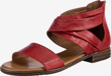 Paul Vesterbro Leder Klassische Sandalen in Rot