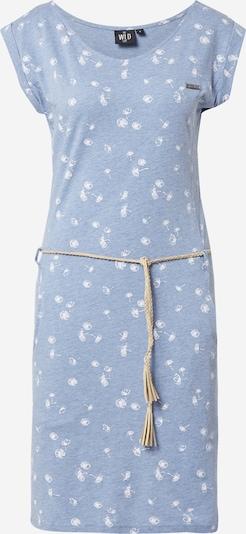 WLD Kleid 'Luna City' in rauchblau / weiß, Produktansicht