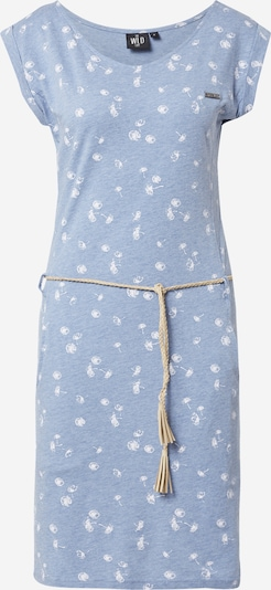 WLD Dress 'Luna City' in Smoke blue / White, Item view