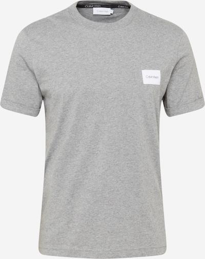 Calvin Klein T-Shirt en gris chiné / blanc, Vue avec produit
