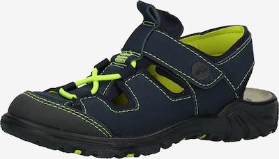 RICOSTA Chaussures ouvertes 'Gerald' en bleu nuit / jaune fluo, Vue avec produit