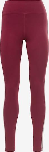 Reebok Sport Leggings in rot / weinrot, Produktansicht