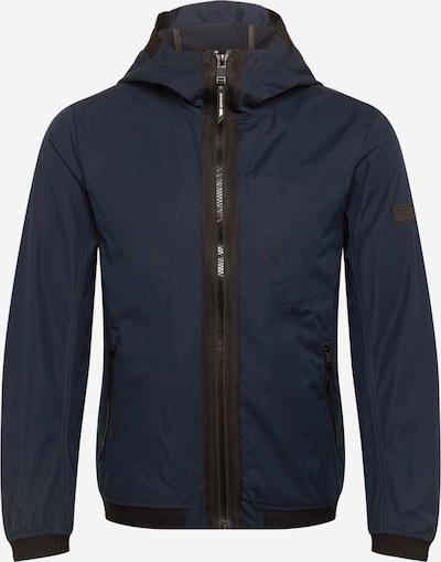 TOM TAILOR DENIM Übergangsjacke in dunkelblau / schwarz, Produktansicht