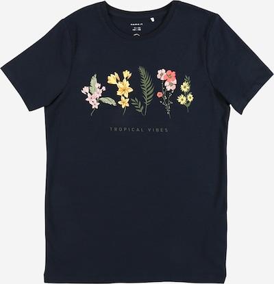 NAME IT Camiseta 'JASMIN' en azul oscuro / amarillo / oliva / rosa, Vista del producto