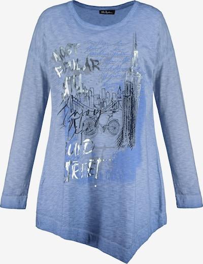Tricou Ulla Popken pe albastru fumuriu / albastru porumbel, Vizualizare produs