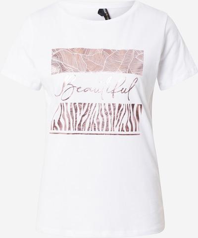 Tricou DeFacto pe auriu - roz / alb, Vizualizare produs