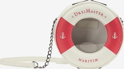 DreiMaster Maritim Umhängetasche in beige / rot, Produktansicht