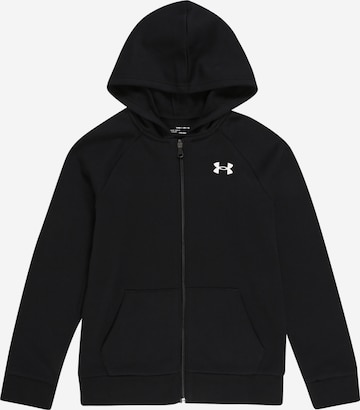 UNDER ARMOUR Athletic Zip-Up Hoodie in Black