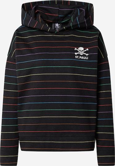 Bluză de molton FC St. Pauli pe albastru / verde / lila / roșu / negru, Vizualizare produs