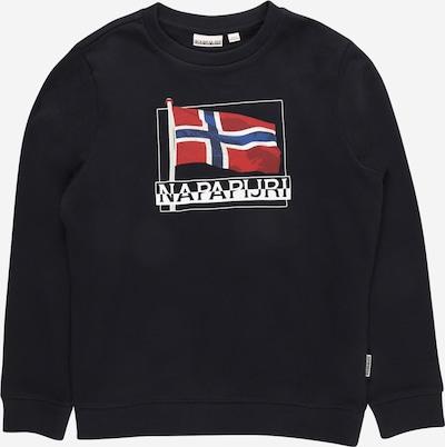 NAPAPIJRI Sweater majica 'BEJI' u plava / morsko plava / crvena / bijela, Pregled proizvoda