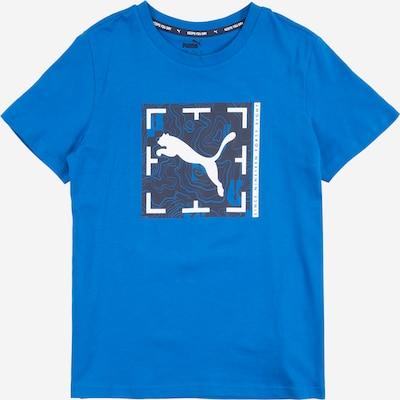 PUMA Camiseta funcional en azul / gris oscuro / blanco, Vista del producto