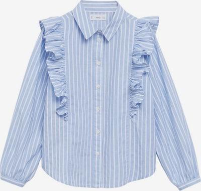 MANGO KIDS Bluse 'Jane1' in hellblau / weiß, Produktansicht