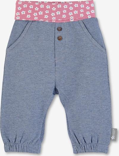 STERNTALER Hose in taubenblau / pink / weiß, Produktansicht