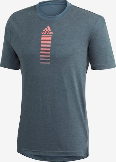 ADIDAS PERFORMANCE T-Shirt in blau / orange, Produktansicht