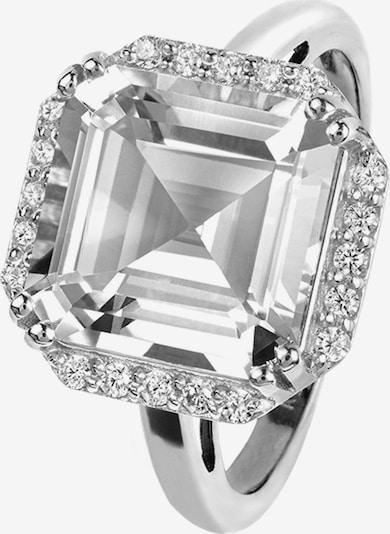 Jacques Lemans Ring in silber / weiß, Produktansicht