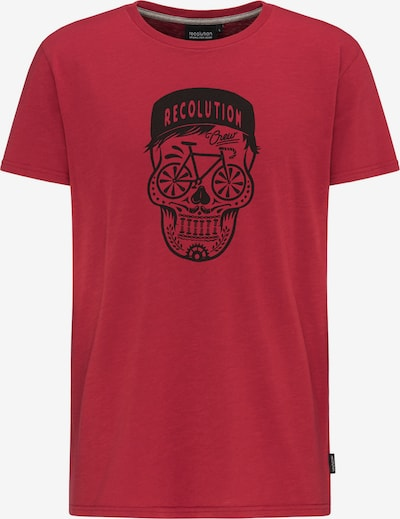 recolution T-Shirt in rot / schwarz, Produktansicht