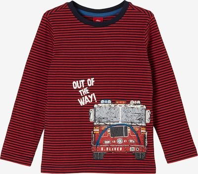 s.Oliver Shirt in dunkelblau / rot, Produktansicht