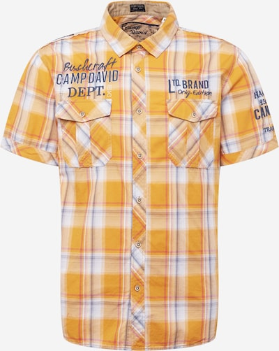 CAMP DAVID Button Up Shirt in Navy / Yellow / White, Item view